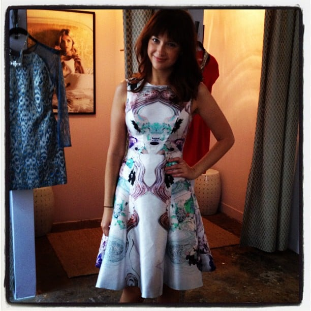 Fashionologie's Christina Pérez tried on a pretty Prabal Gurung frock at Rent the Runway's new NYC showroom.