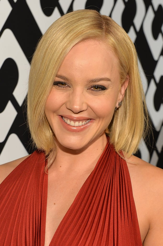 Fresh-faced beauty always looks great on Abbie Cornish, so she paired her signature makeup palette with a sleek blowout.