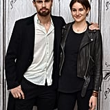 Theo James and Shailene Woodley kept things casual when they visited the AOL Studios in New York on Tuesday.