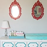 The finds: bright mirrors for a cute nursery.