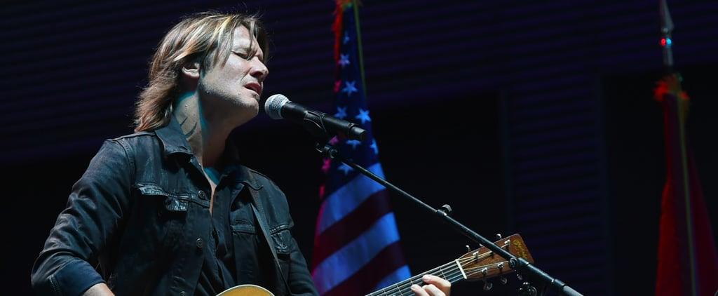 "Keith Urban Performs ""Bridge Over Troubled Water"" at Nashville Vigil For Las Vegas"