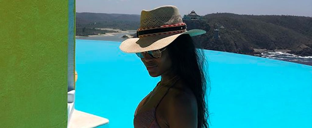 Don't Let Naomi Campbell's Vacation in Paradise Distract You From Her Sporty-Chic Bikini