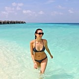 Ricki-Lee Coulter swam in crystal clear waters in the Maldives. Source: Instagram user therickilee