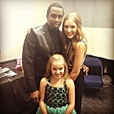 Diddy posed with Nashville's Lennon and Maisy backstage. Source: Instagram user iamdiddy