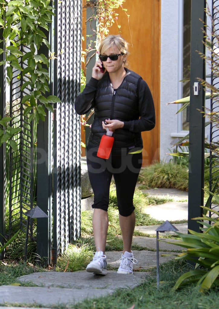 Reese Witherspoon was on her way following her early morning appointment.