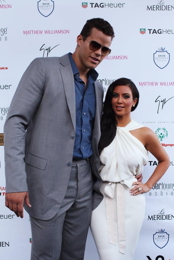 Kim Kardashian Wears White to Show Off Her Huge Ring!