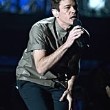 Nate Ruess performed on stage with the rest of fun.