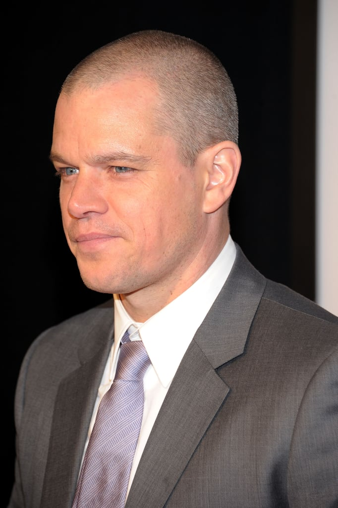 Matt Damon was ready for his close up.