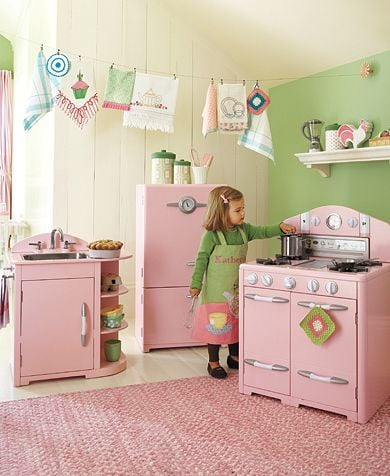 Pottery Barn Kids Pink Retro Kitchen Collection Toys For