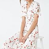 Satin Floral Midi Dress