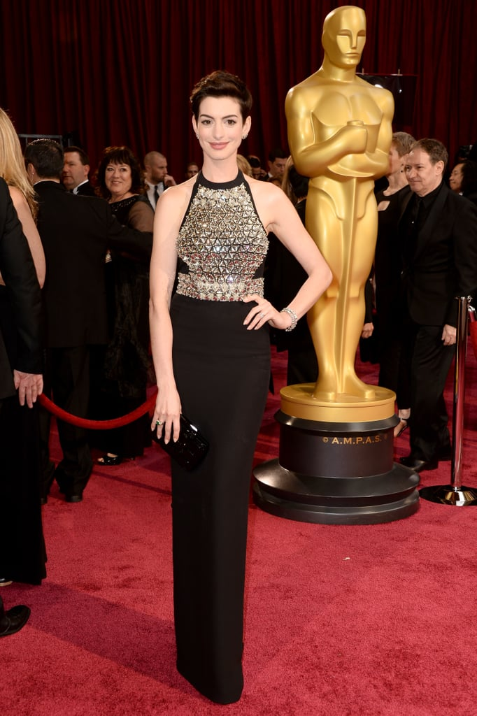 For the 2014 Oscars, Anne flashed a whole lot of sparkle in Gucci.