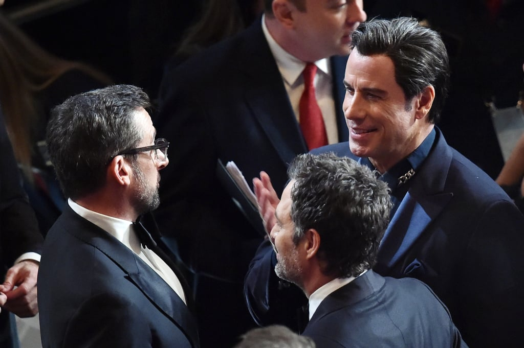 John Travolta Chatted With Steve Carell and Mark Ruffalo