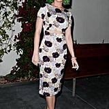 Katy put her green hair on display.