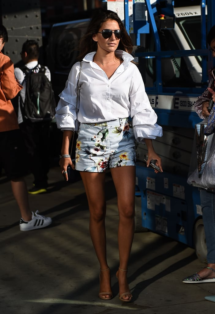 Pair Your Short Shorts With a Crisp White Button-Down