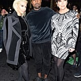 Kim and Kris showed their support for Balmain designer Olivier Rousteing  when they attended the Fall 2015 runway presentation.
