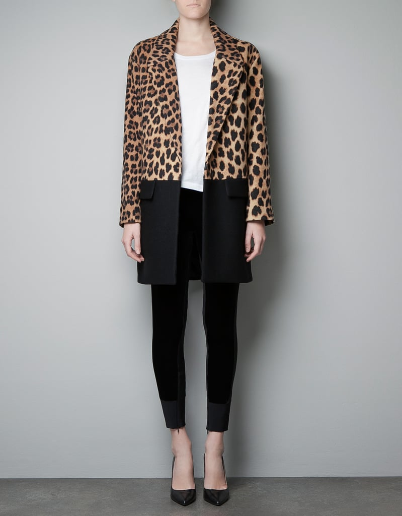 Zara Leopard Print and Color Block Coat ($170, originally $229)