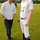 With Prince Harry at the Audi Polo Challenge in 2016.