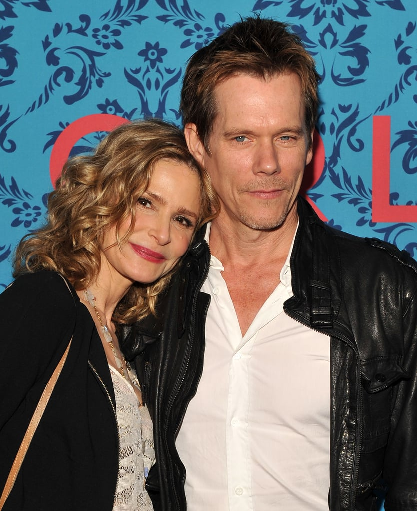 Kyra Sedgwick cozied up to husband Kevin Bacon at the premiere of HBO's new series Girls in NYC.