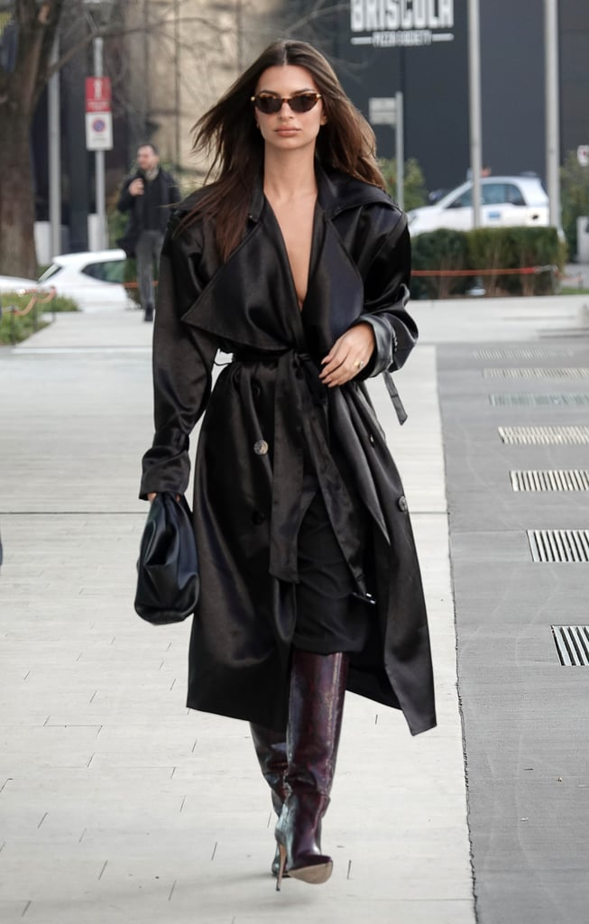 Emily Ratajkowski's Street Style at Milan Fashion Week