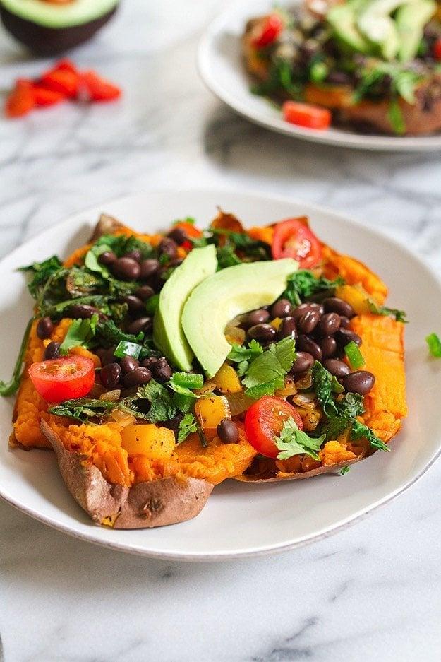 Mexi-Stuffed Sweet Potato