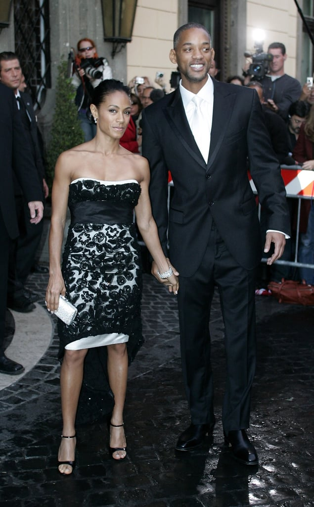 Will Smith and Jada Pinkett Smith held hands in Rome while at Tom Cruise and Katie Holmes's wedding ceremony in November 2006.