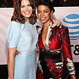 Pictured: Mandy Moore and Susan Kelechi Watson