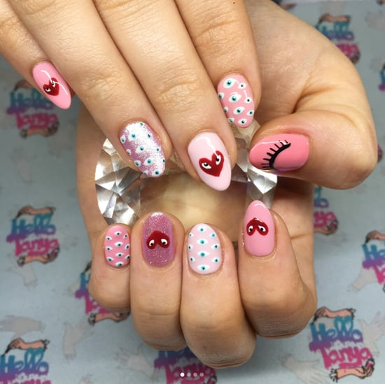 Comme Des Garcons-Inspired Nail Art