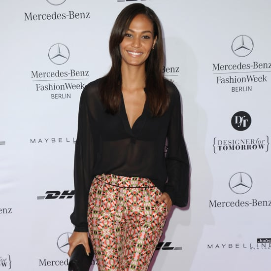 Joan Smalls Wearing Printed Pants