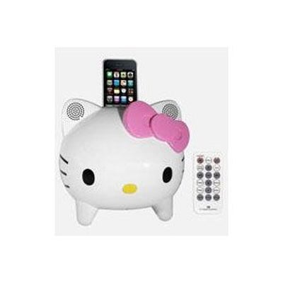 Hello Kitty iPhone dock and stereo ($97)