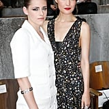 Kristen Stewart and Rose Byrne took front-row seats at the Chanel Haute Couture show on Tuesday.