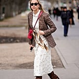 Throw a Tweed Blazer and Boots Over Your LWD
