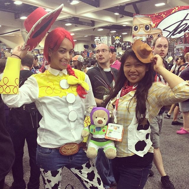 Jessie and Woody  sc 1 st  Popsugar & Jessie and Woody | Disney Costumes at Comic-Con 2015 | POPSUGAR Love ...