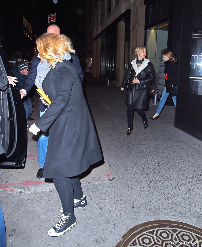 Jennifer Lawrence, Emma Stone, and Adele in NYC