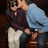 Josh Duhamel planted a kiss on Fergie's cheek at a Black Eyed Peas afterparty in Chicago in March 2010.
