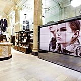 The new Burberry store at George St Sydney. Twitter User: tailormaid_