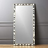 Ambaji Handicrafts Stylish and Elegant Colour Bone Brass Inlay Floor Mirror