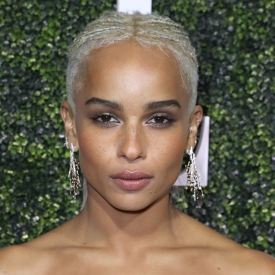 Zoe Kravitz With Hidden Rainbow Hair | 2017