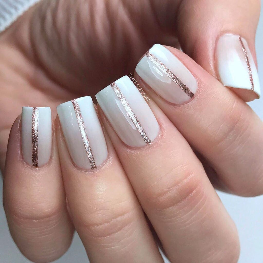 One Stripe Nail Art Design Popsugar Beauty Uk