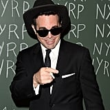 Mario Cantone dressed up as a Blues Brother in NYC in 2014.