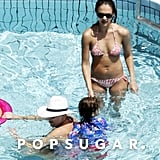 Jessica Alba Bikini Pictures in Italy With Kids