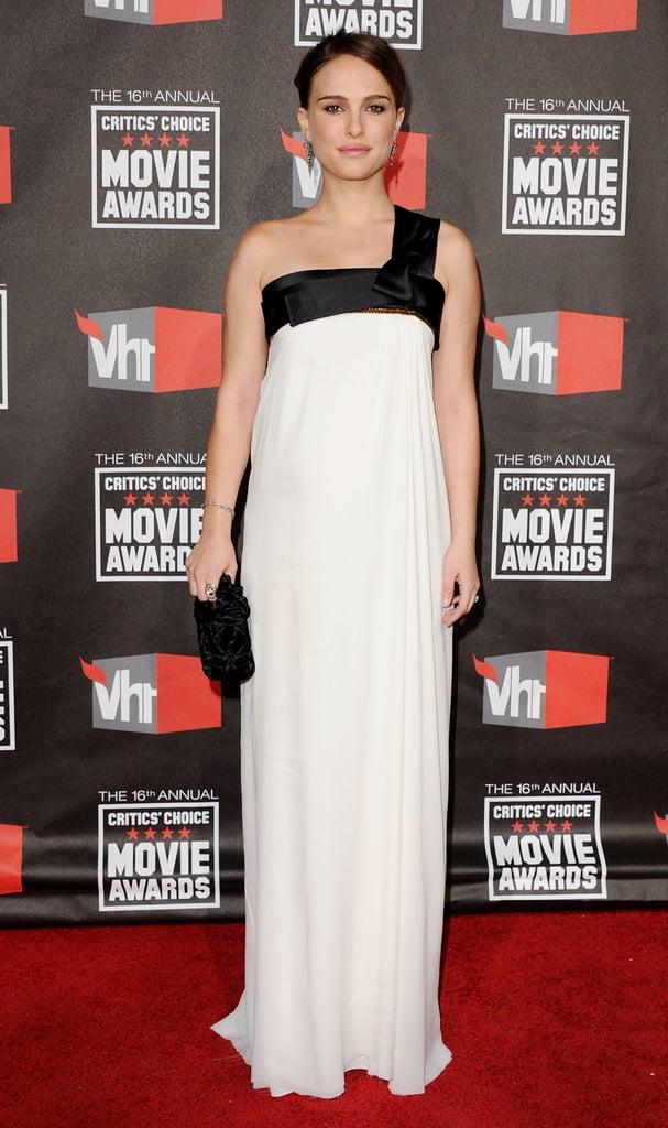Natalie Portman in Gianfranco Ferré at the 2011 Critics' Choice Awards