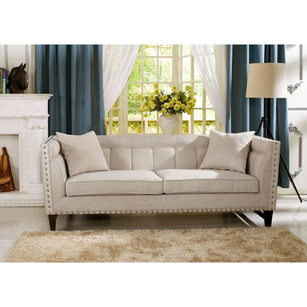 Baxton Studio Stapleton Modern and Contemporary Linen Sofa ($821)