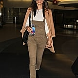 She knows her way around a stylish airport look.