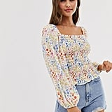 ASOS Design Shirred Top