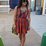 This dress is such a standout, but my eye gravitates toward that rock necklace.