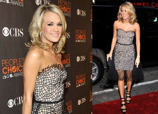 Photos of Carrie Underwood on the 2010 People's Choice Awards Red Carpet 2010-01-06 18:01:22