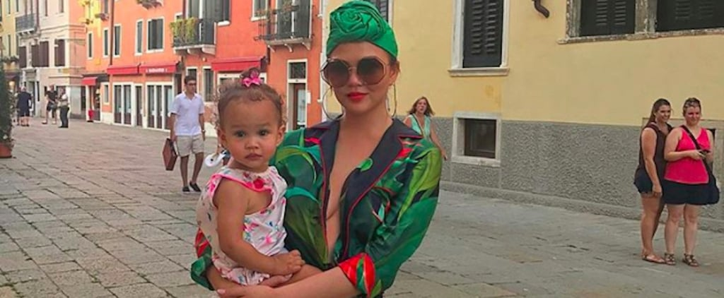Chrissy Teigen Venice Outfits