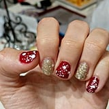 Red and Gold Glitter