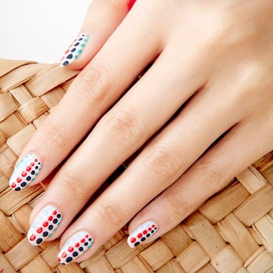 Fourth of July Polka-Dot Nail Art Design