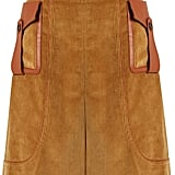 Prada Leather-Trimmed Skirt